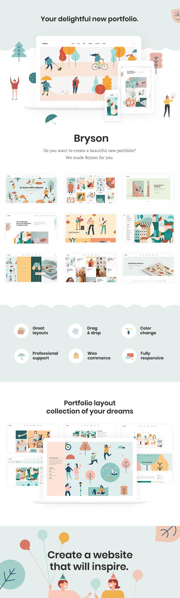 Bryson - Illustration and Design Portfolio Theme - 1